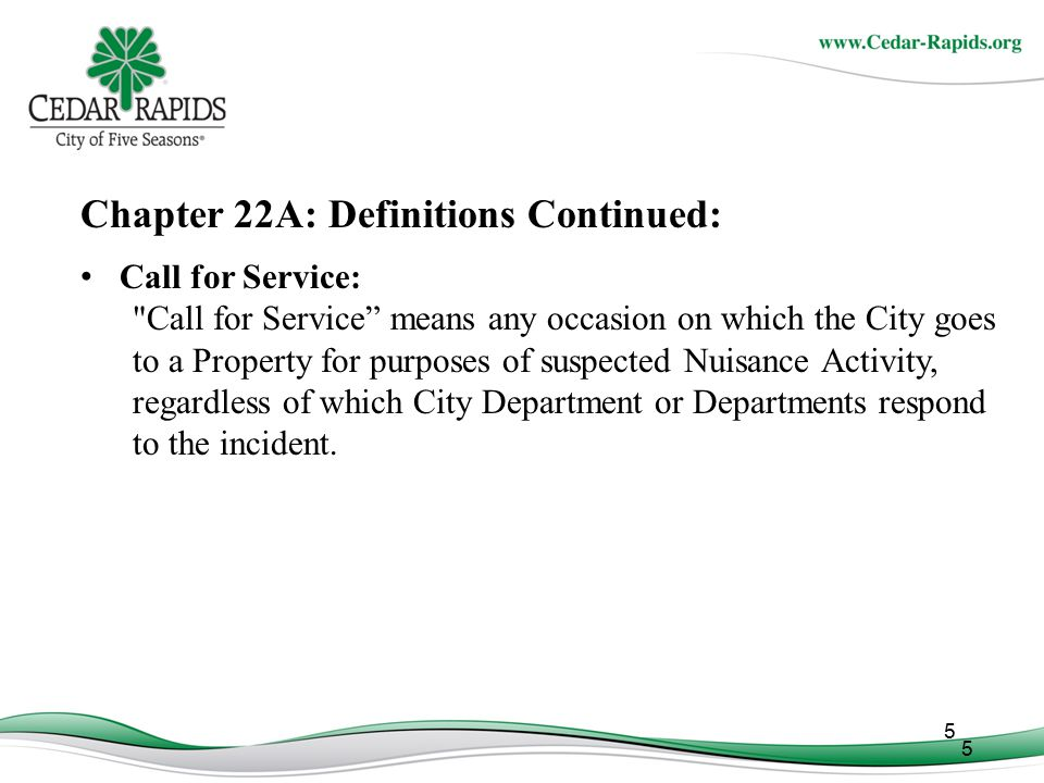 Chapter 22A: Definitions Continued: