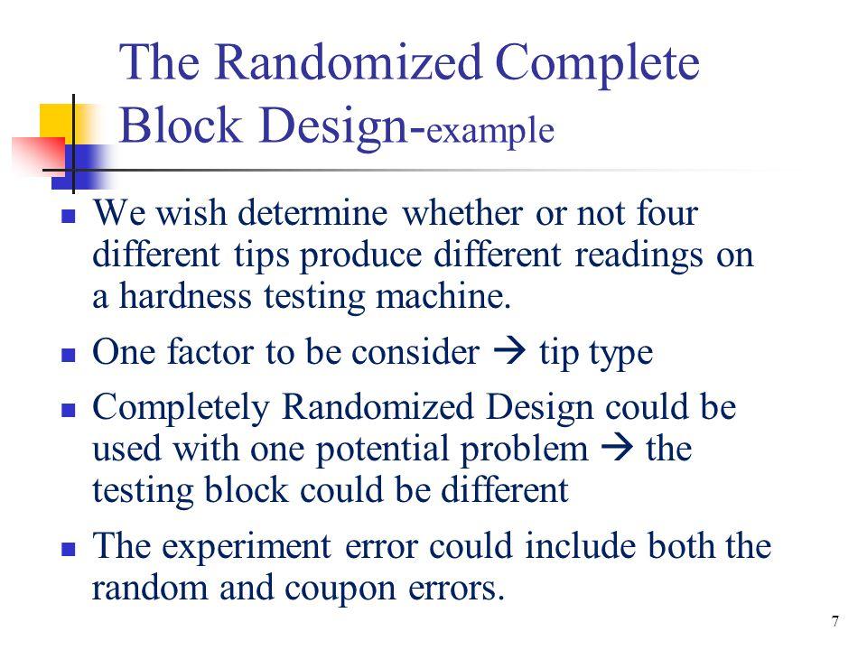 The Randomized Complete Block Design-example