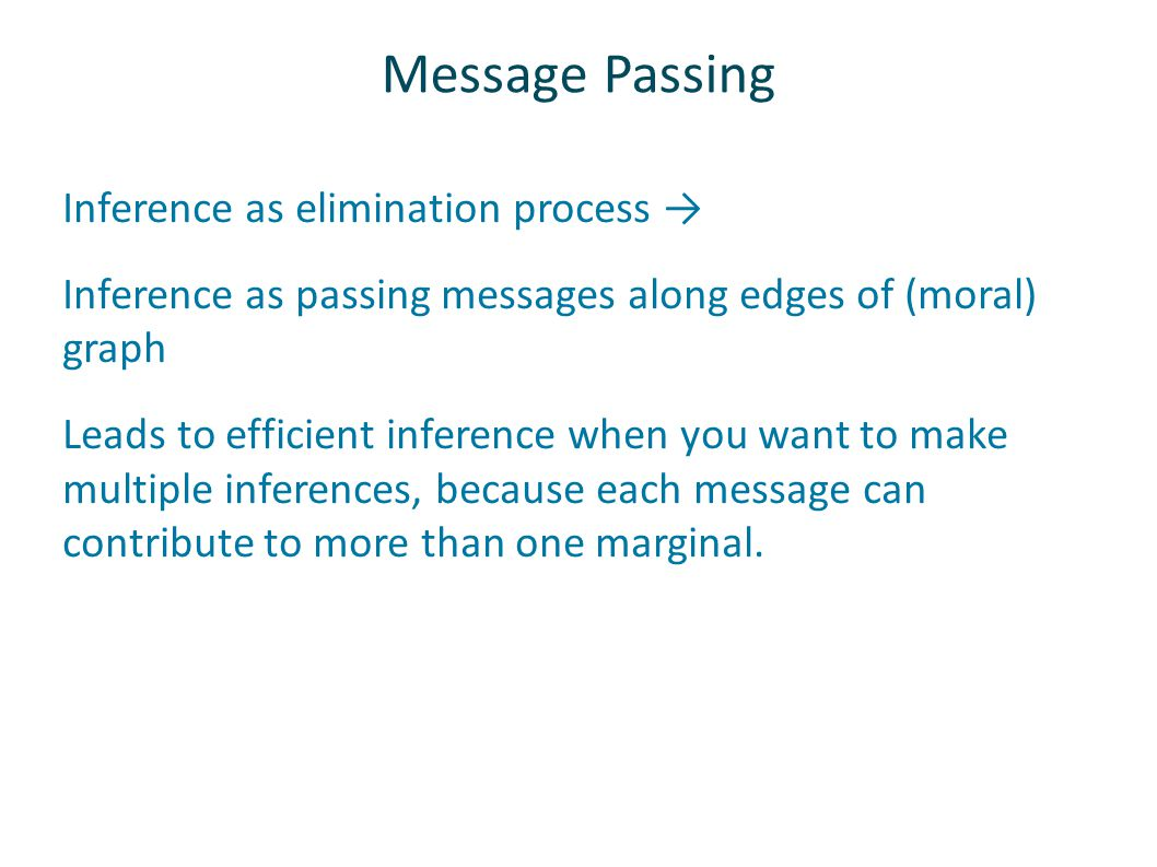 Message Passing Inference as elimination process →