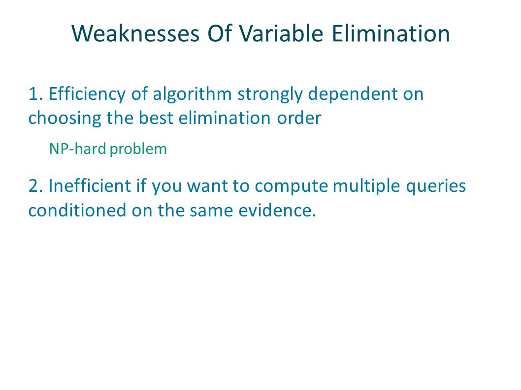 Weaknesses Of Variable Elimination