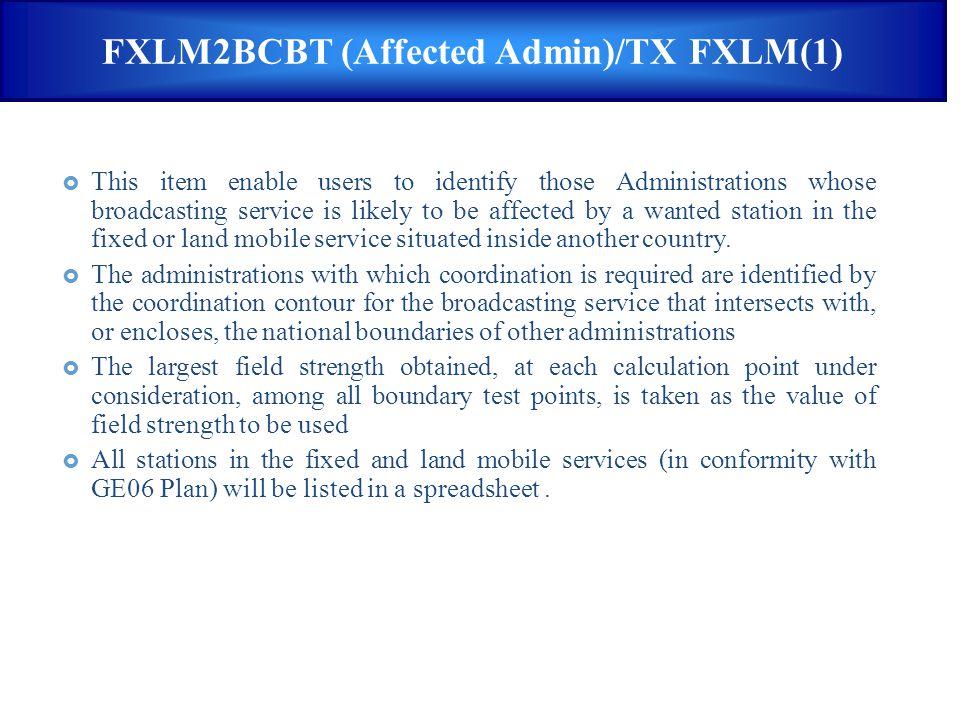 FXLM2BCBT (Affected Admin)/TX FXLM(1)