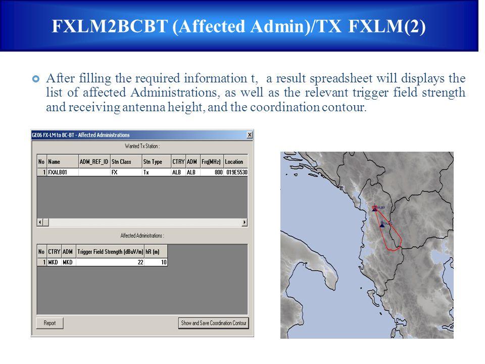 FXLM2BCBT (Affected Admin)/TX FXLM(2)