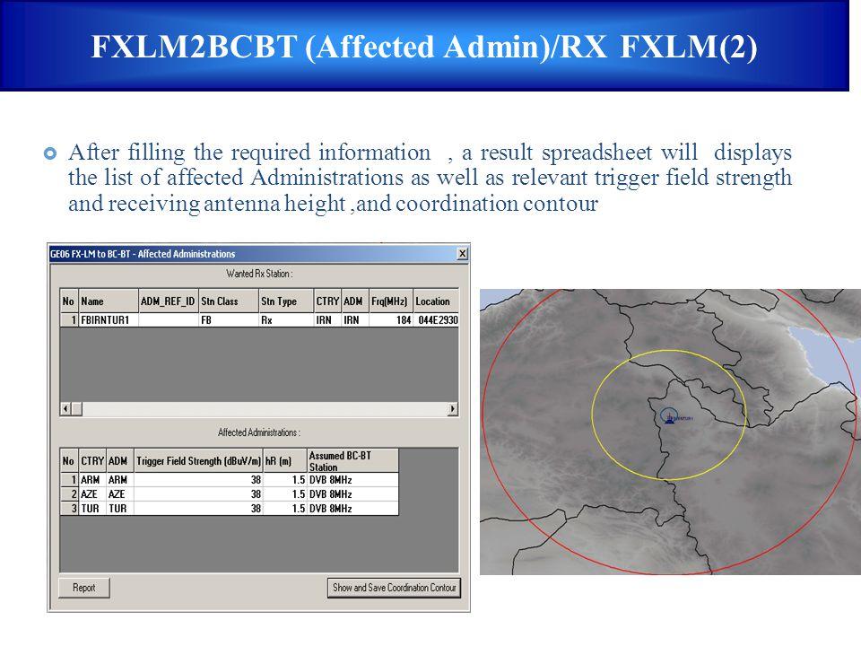 FXLM2BCBT (Affected Admin)/RX FXLM(2)