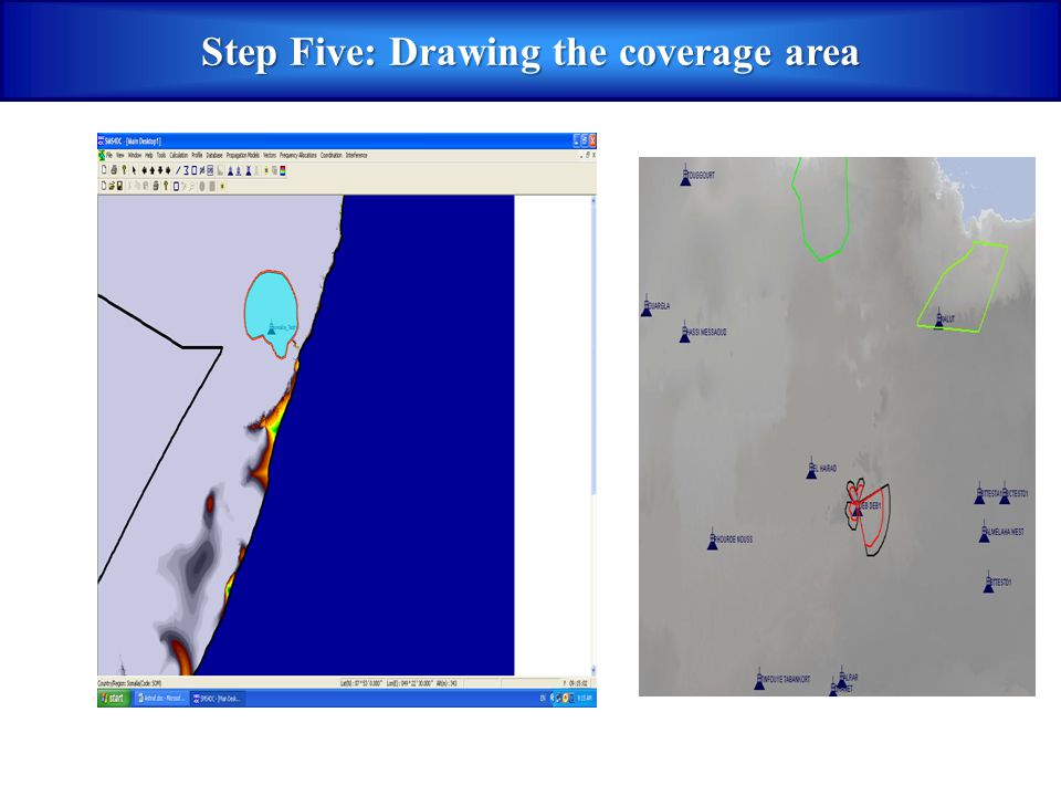 Step Five: Drawing the coverage area