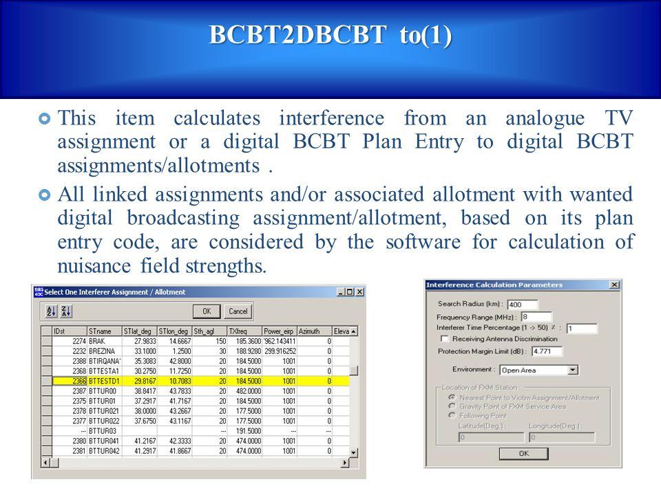 BCBT2DBCBT to(1)