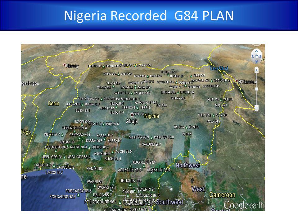Nigeria Recorded G84 PLAN