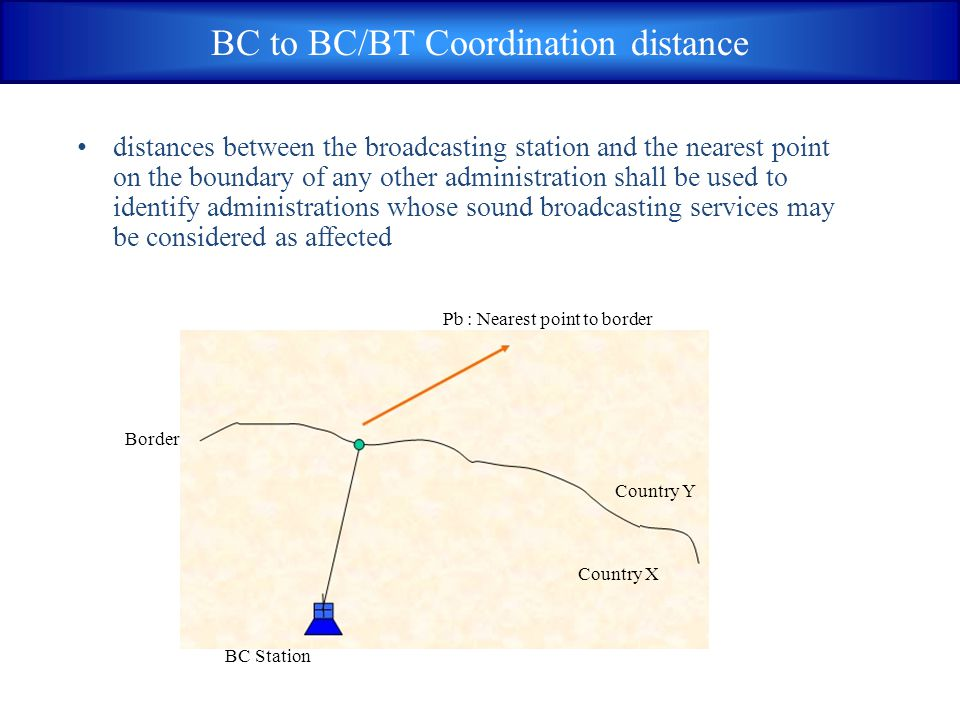 BC to BC/BT Coordination distance