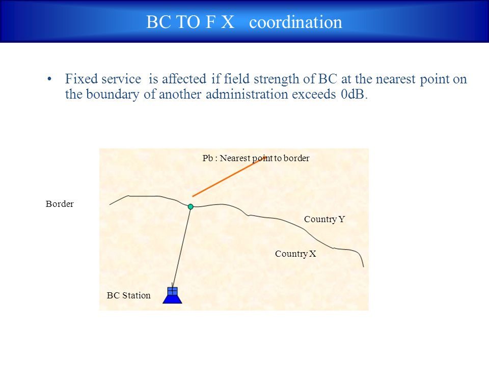 BC TO F X coordination