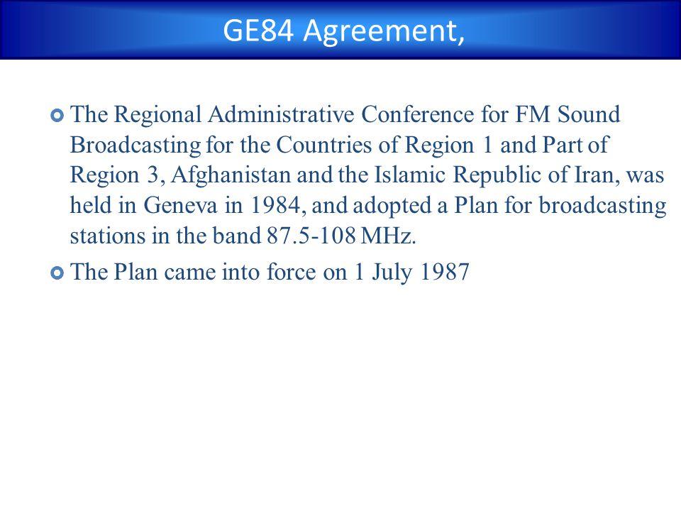 GE84 Agreement,