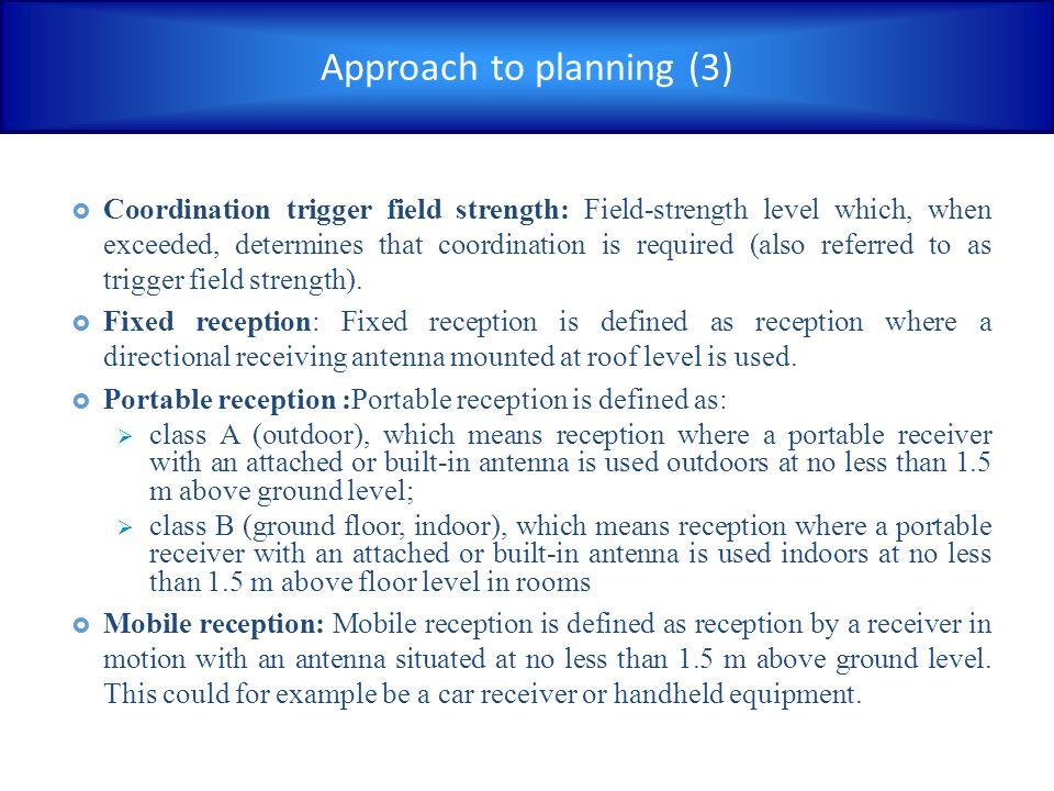 Approach to planning (3)