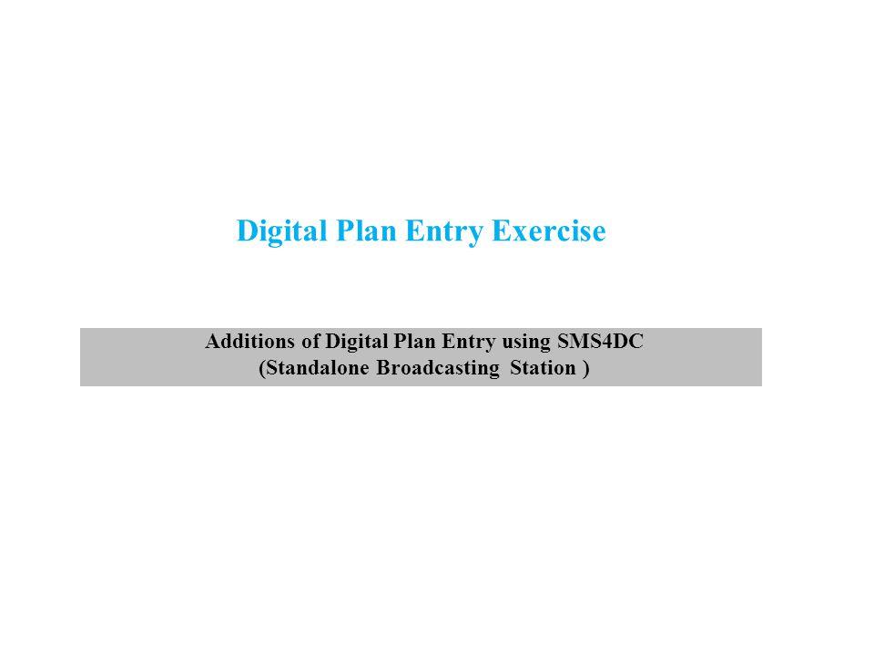Digital Plan Entry Exercise