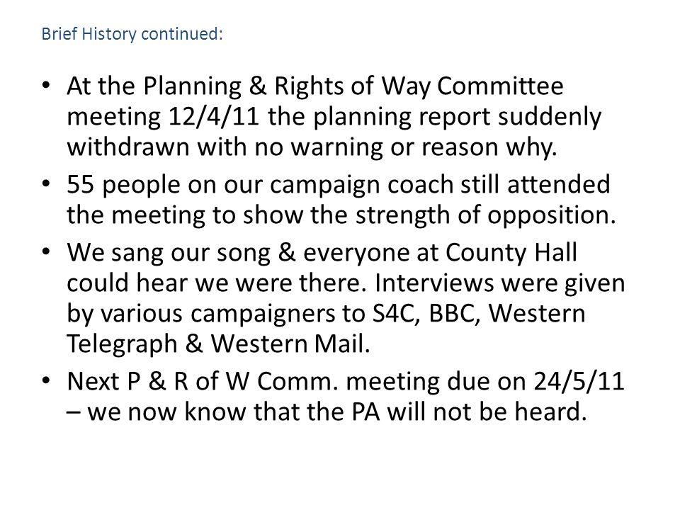 Brief History continued: