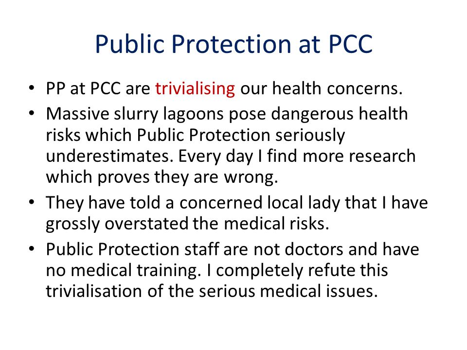 Public Protection at PCC
