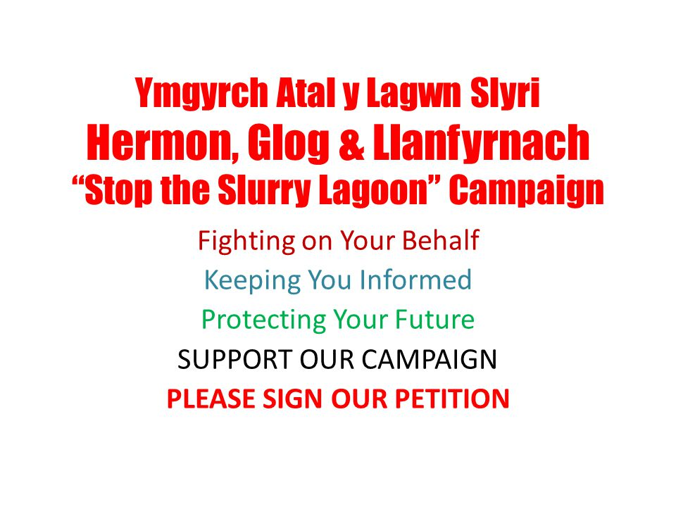 PLEASE SIGN OUR PETITION