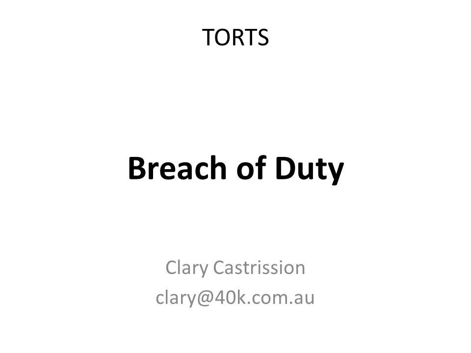 Clary Castrission clary@40k.com.au