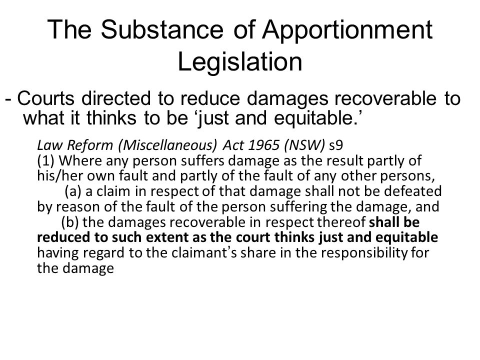 The Substance of Apportionment Legislation