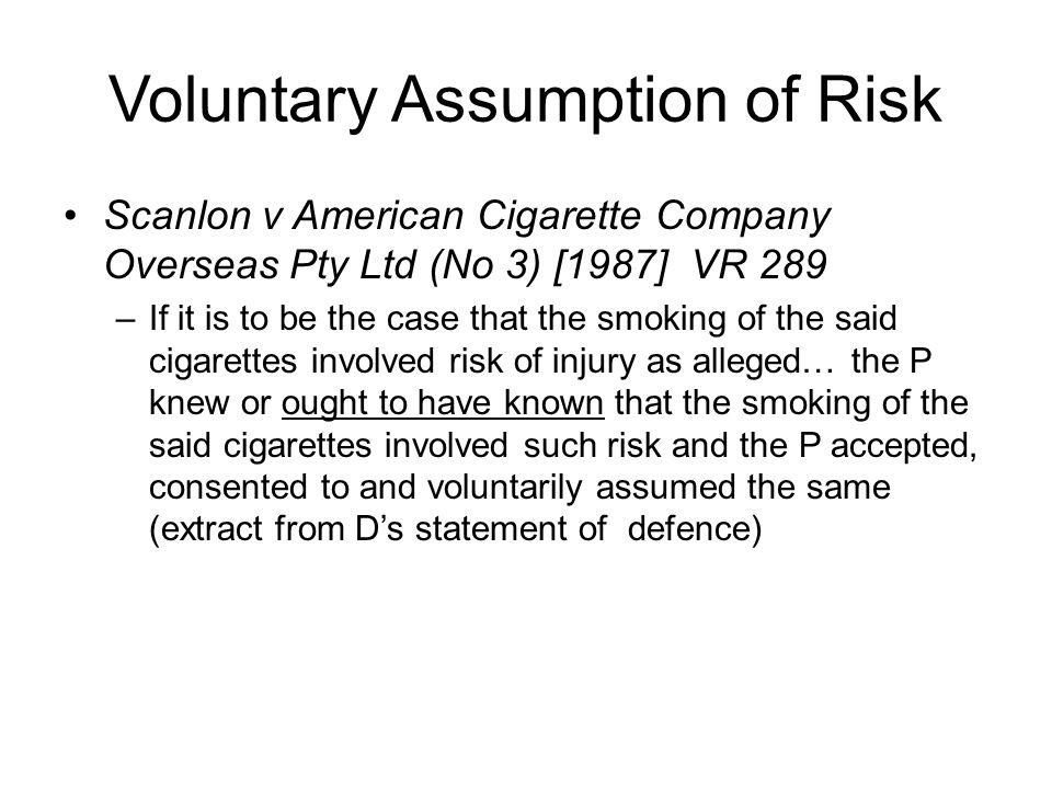 Voluntary Assumption of Risk