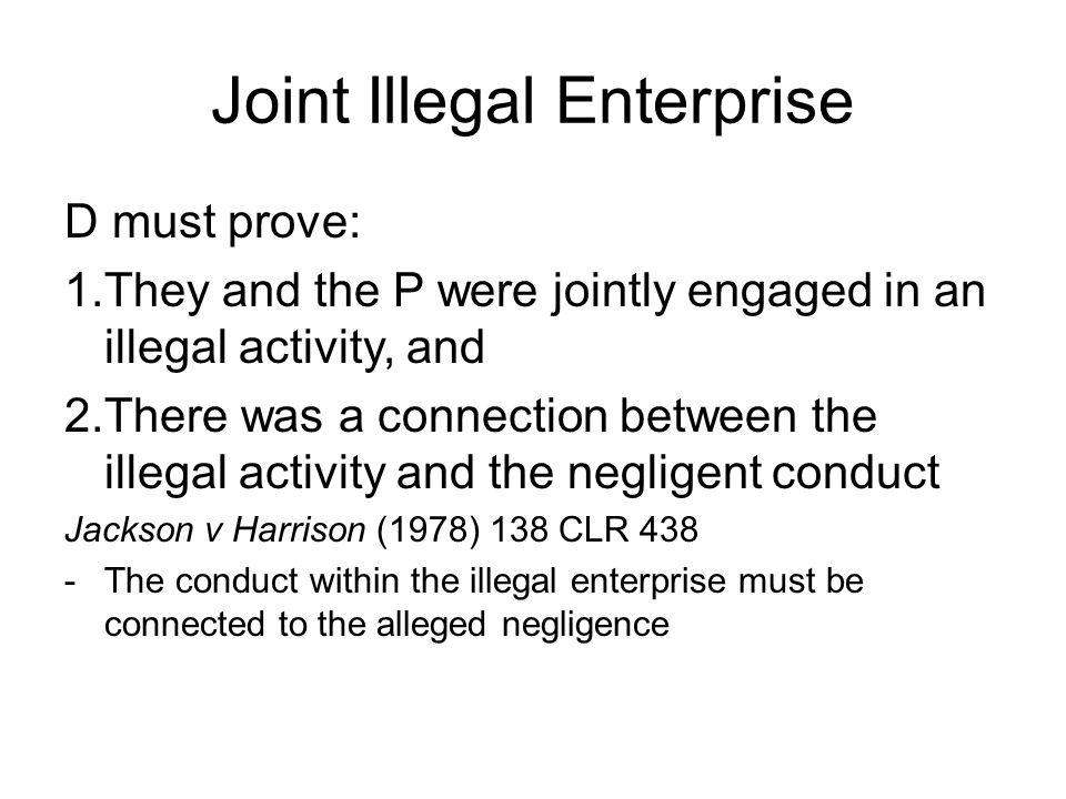 Joint Illegal Enterprise