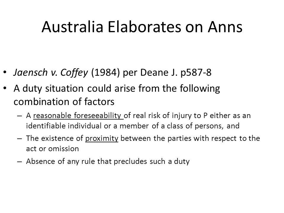Australia Elaborates on Anns