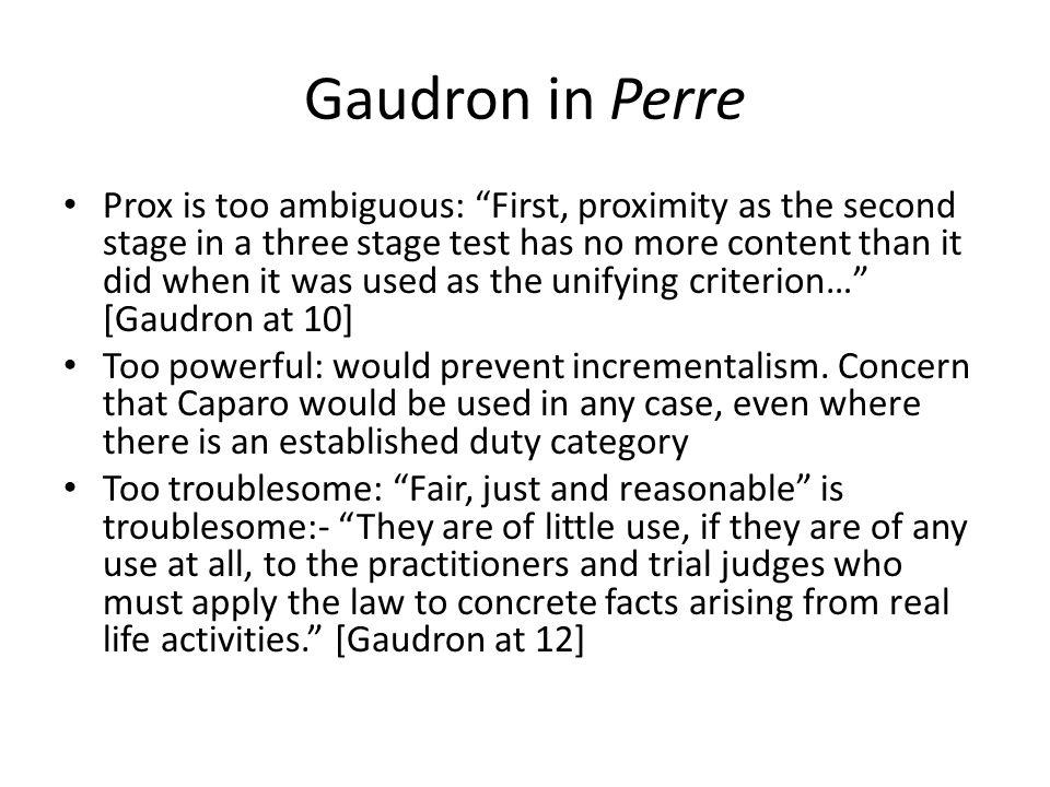 Gaudron in Perre