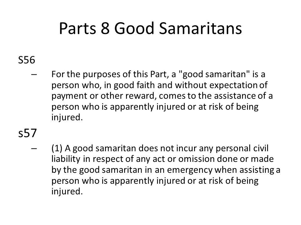 Parts 8 Good Samaritans s57 S56