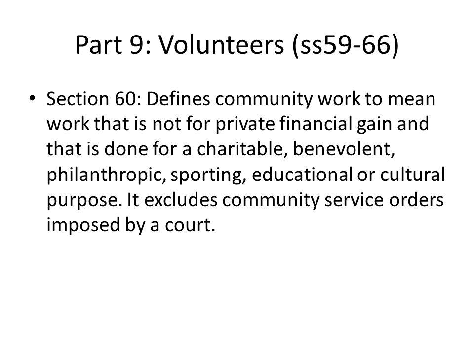 Part 9: Volunteers (ss59-66)