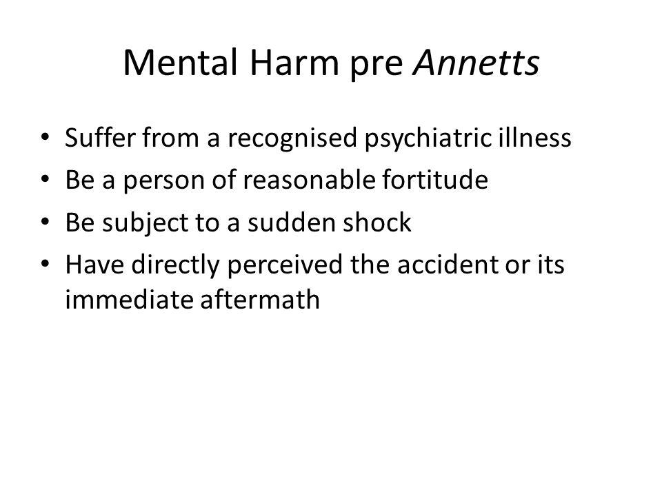 Mental Harm pre Annetts