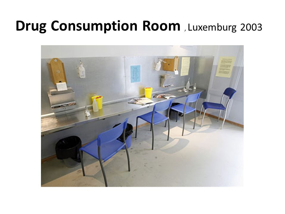 Drug Consumption Room , Luxemburg 2003