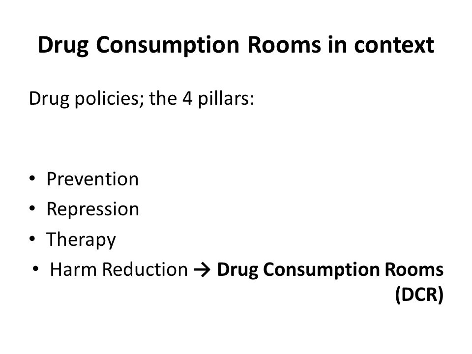 Drug Consumption Rooms in context