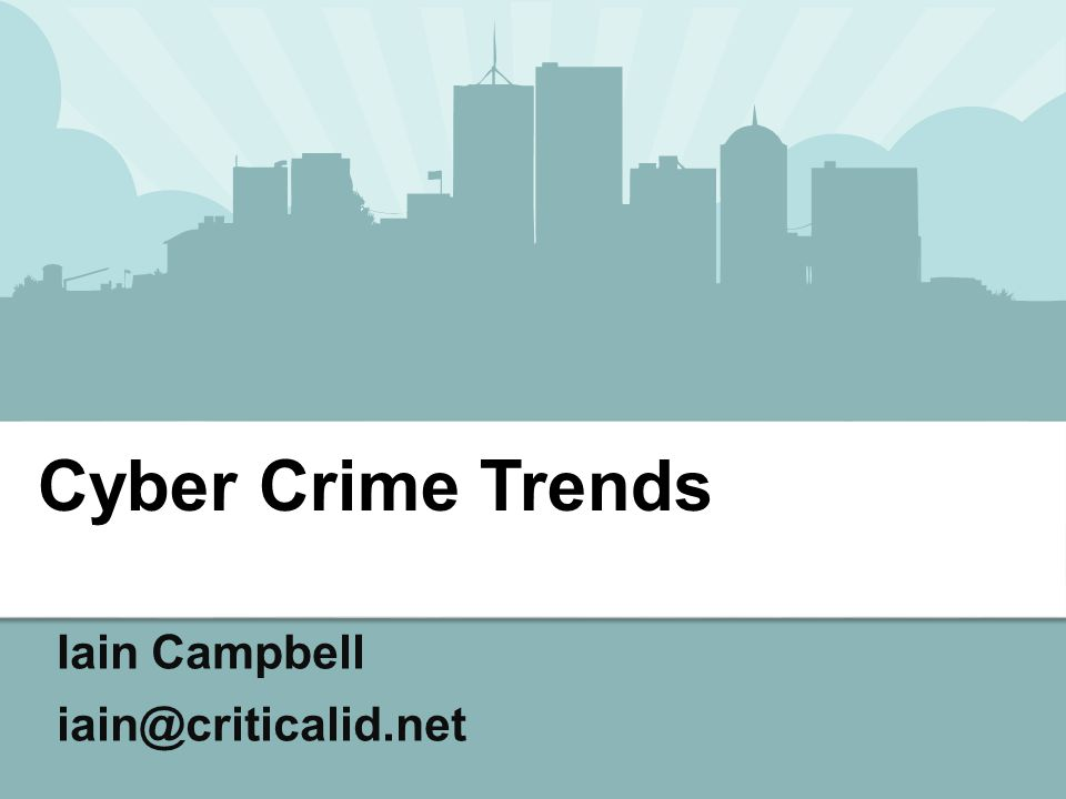 Cyber Crime Trends