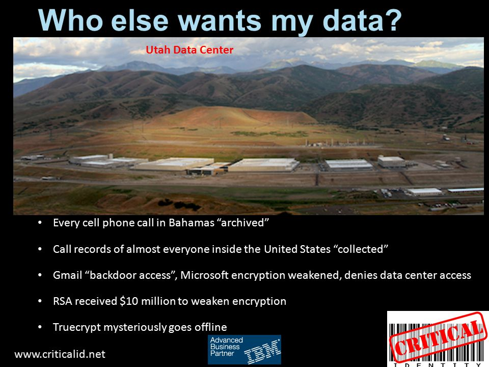 Who else wants my data Utah Data Center