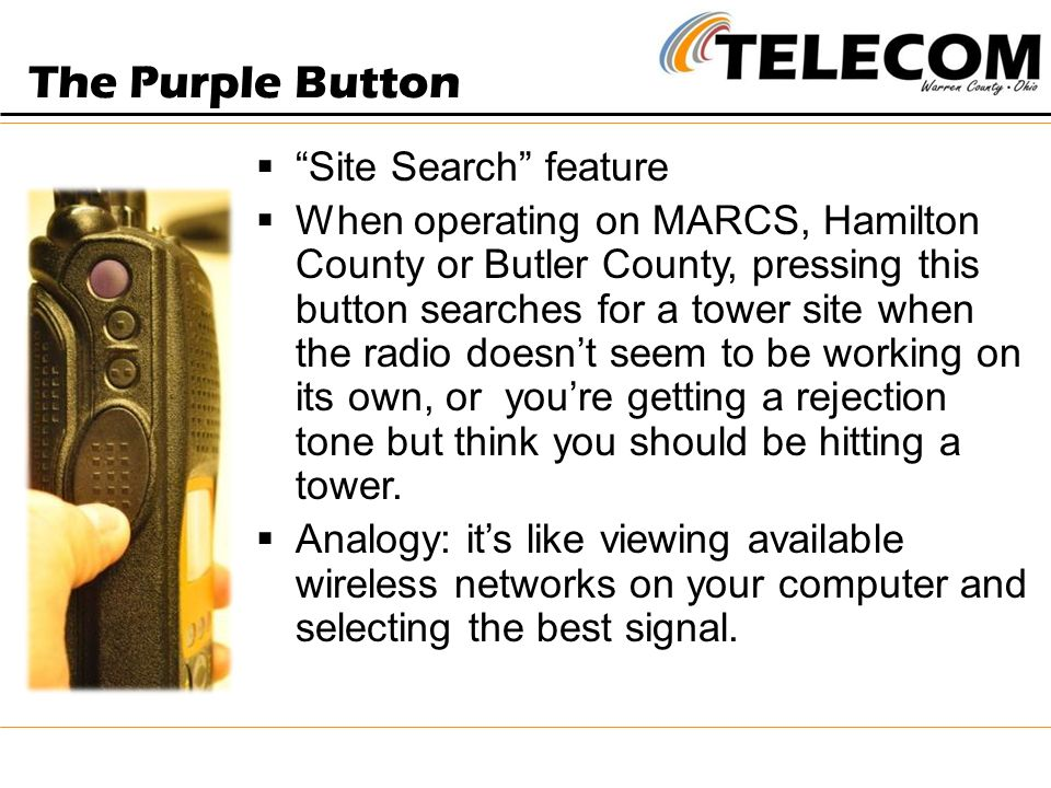 The Purple Button Site Search feature