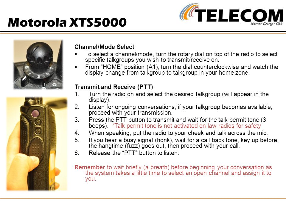 Motorola XTS5000 Channel/Mode Select