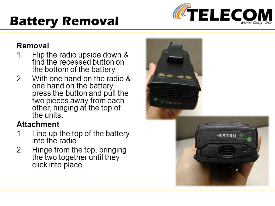 Battery Removal Removal