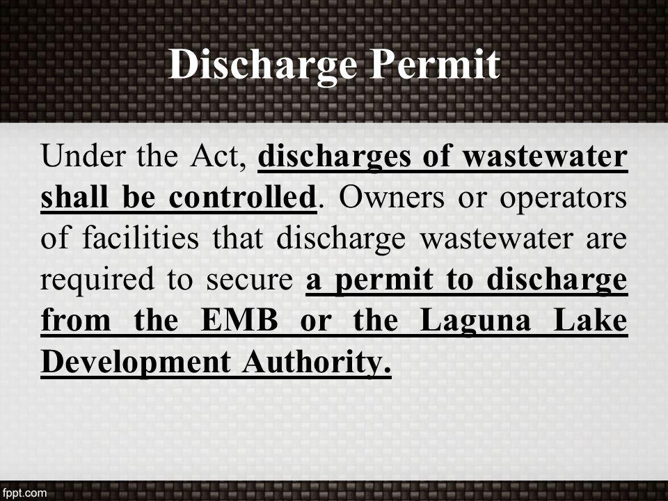 Discharge Permit