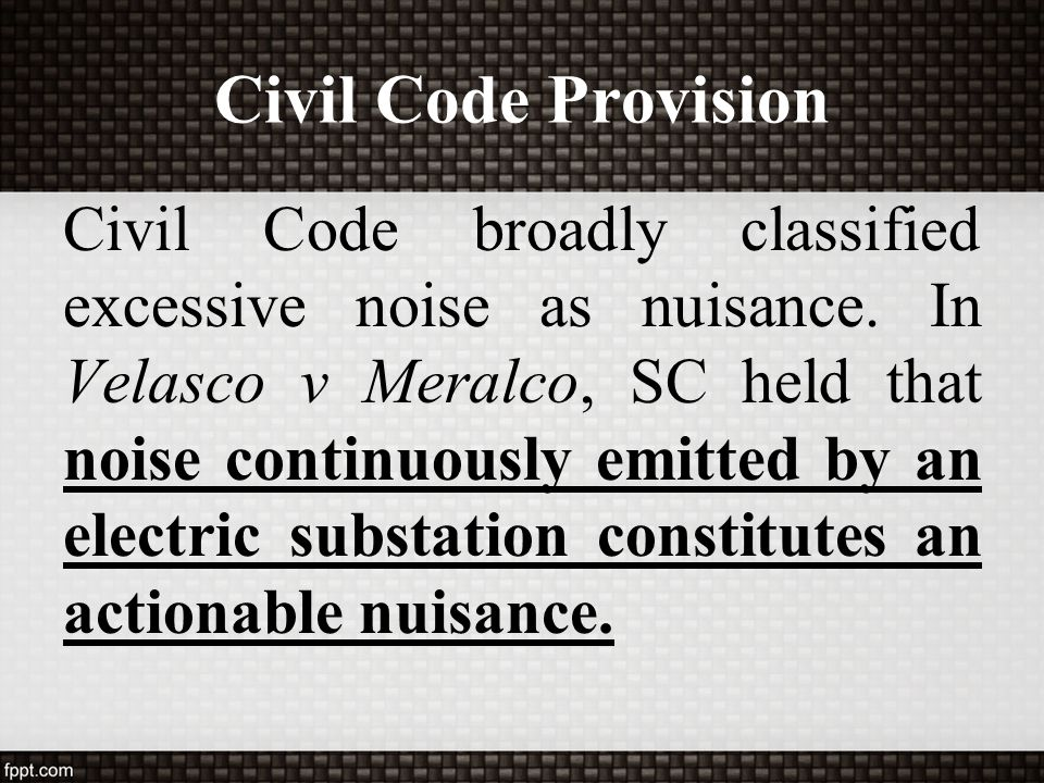 Civil Code Provision