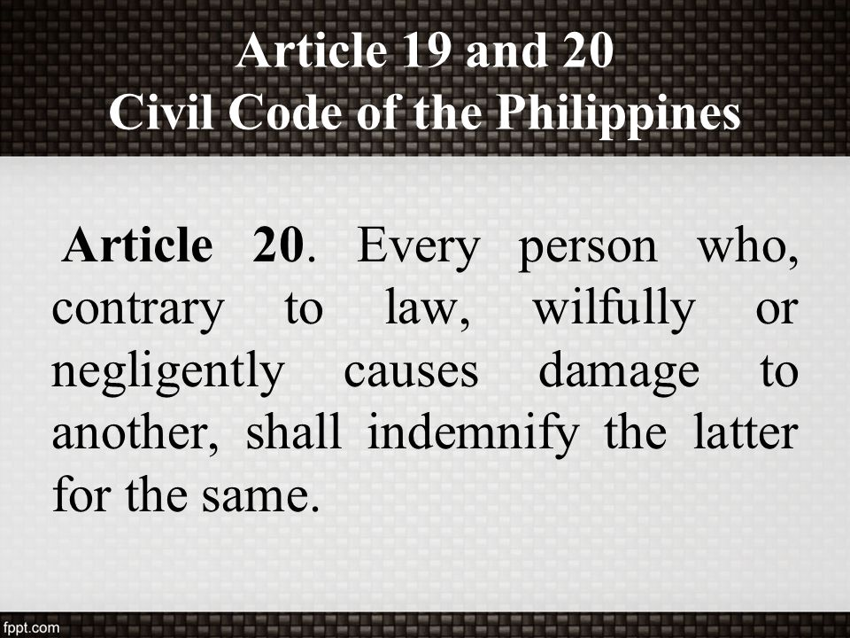 civil code of the philippines Basic provisions on law on obligations and contracts based on the civil code of the philippines will be tackled in this paper cases and applications related to business will also be discussed keywords: obligations, contracts, civil code of the philippines, law, commercial law .