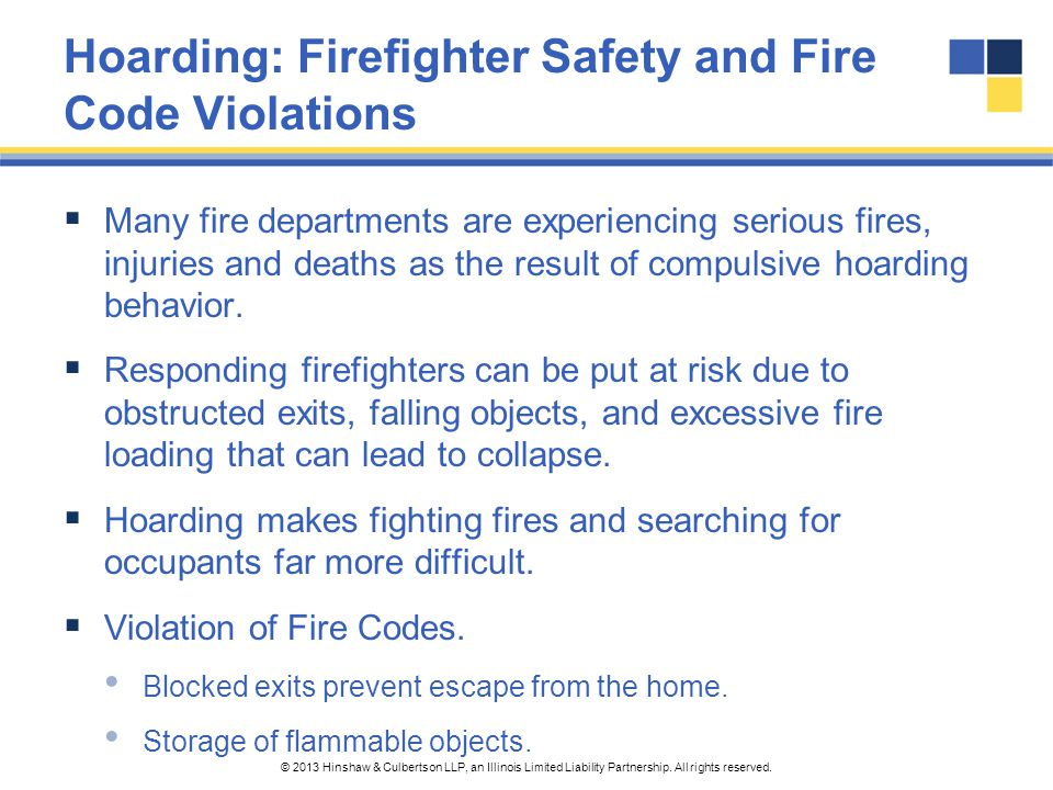 Hoarding: Firefighter Safety and Fire Code Violations