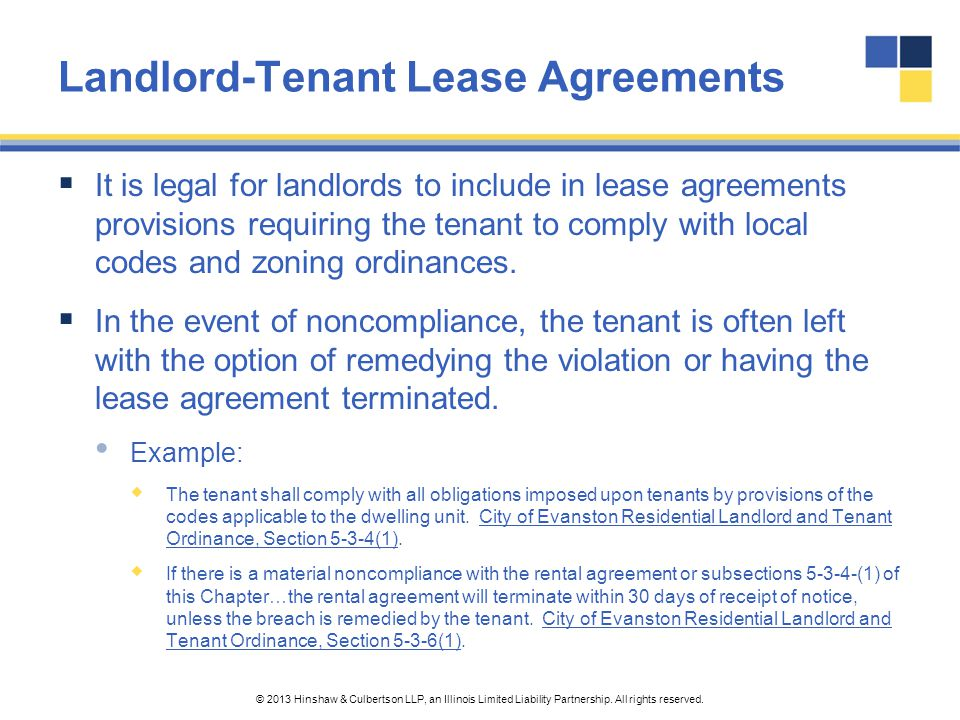 Landlord-Tenant Lease Agreements