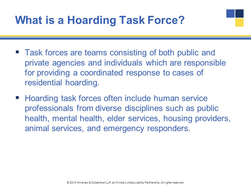 What is a Hoarding Task Force