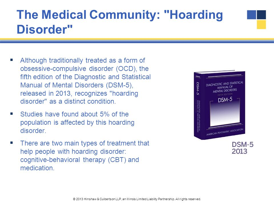 The Medical Community: Hoarding Disorder