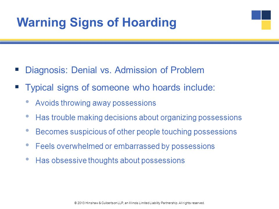 Warning Signs of Hoarding