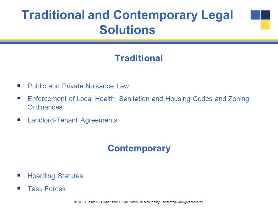 Traditional and Contemporary Legal Solutions