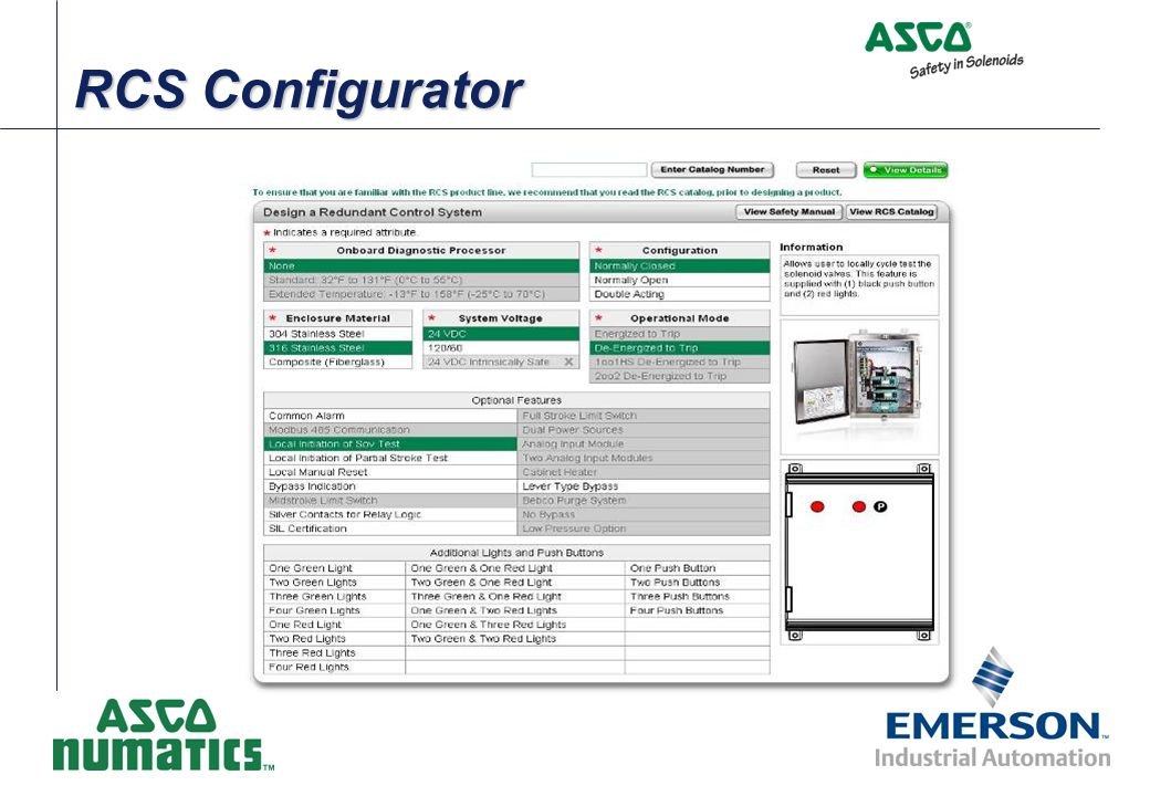 RCS Configurator