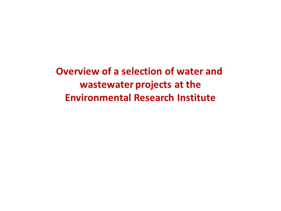 Overview of a selection of water and wastewater projects at the