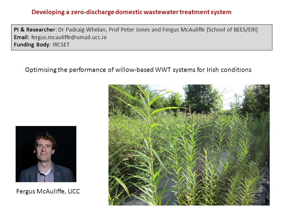 Developing a zero-discharge domestic wastewater treatment system