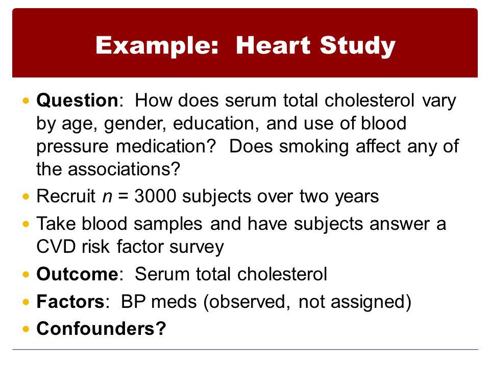 Example: Heart Study