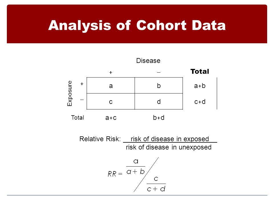 Analysis of Cohort Data