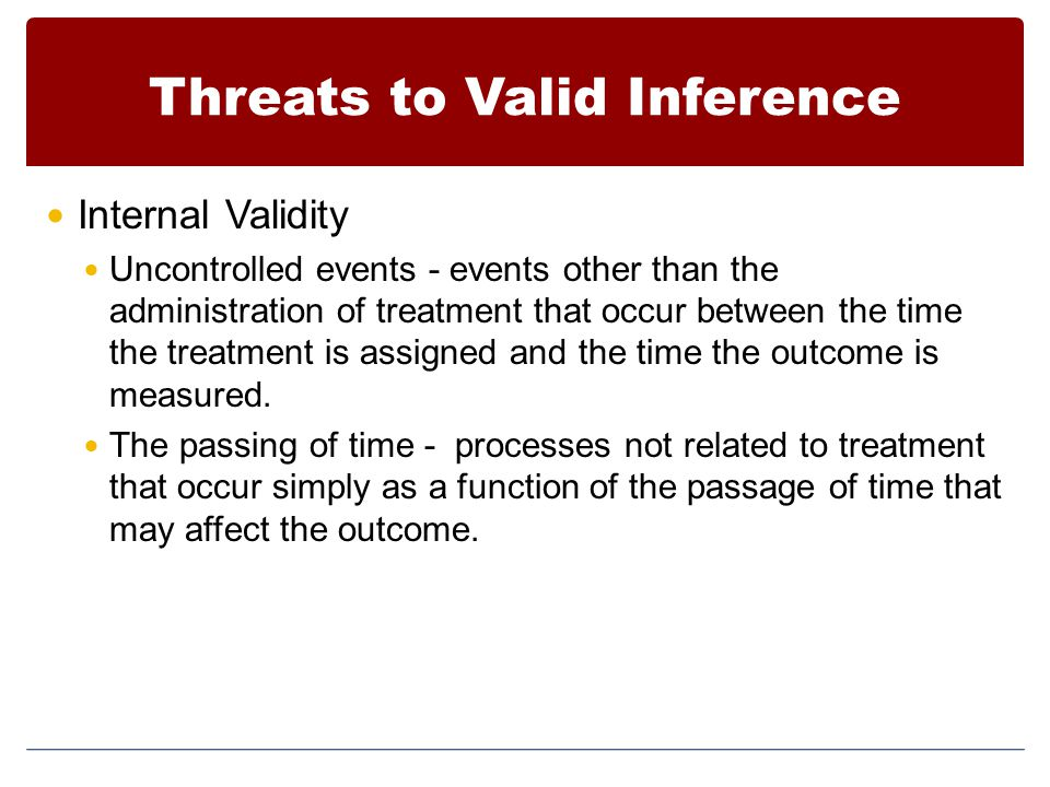 Threats to Valid Inference