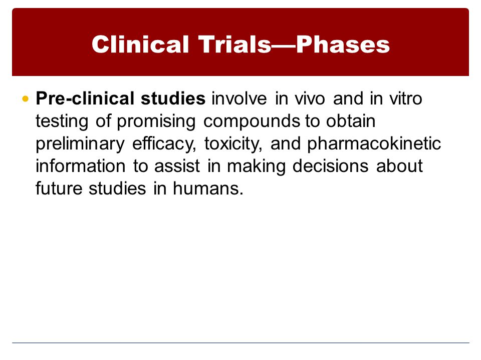 Clinical Trials—Phases